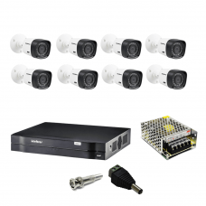 Kit Cftv DVR 1008 Intelbras 8 Camera 1010b Intelbras 1Mp 720P