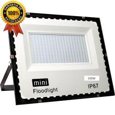 Mini Refletor Holofote SMD 100w Branco Frio IP67