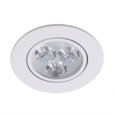 Spot Led 3W Redondo Borda Branco