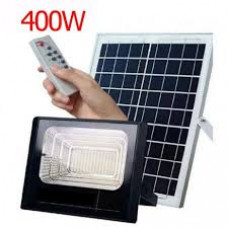 Refletor Holofote De Led 400w Placa Solar Luminária Completa