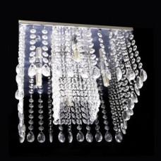 Lustre cristal plafon quadrado 30x30x17cm