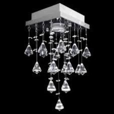 Lustre De Cristal Acrilico Kochi Slim Quadrado 17x17x30cm