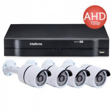 Kit Cftv DVR Intelbras 1004+ 4 Camera 1MP 720P
