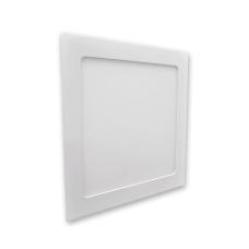 Plafon 12W Luminaria Embutir Led Branco Frio Quadrado