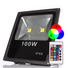 Refletor 100W De Led Rgb Bilvolt Com Controle